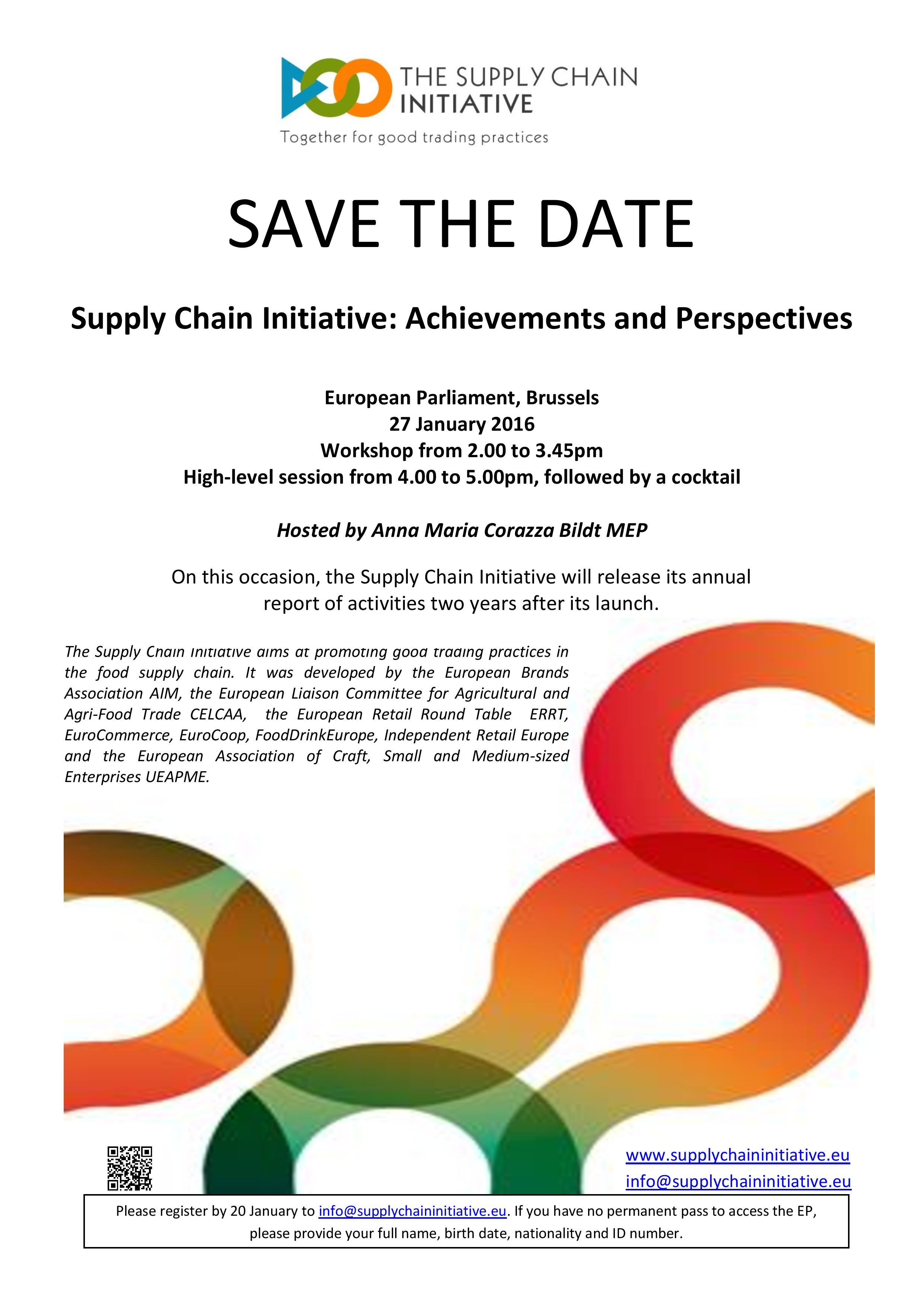 Events archive   The Supply Chain Initiative
